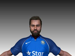 3D rohit sharma