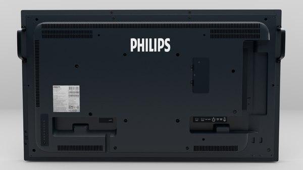 3D modeled philips tv model