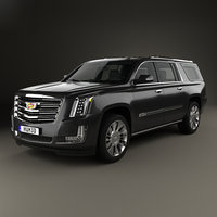 3D cadillac escalade eu model