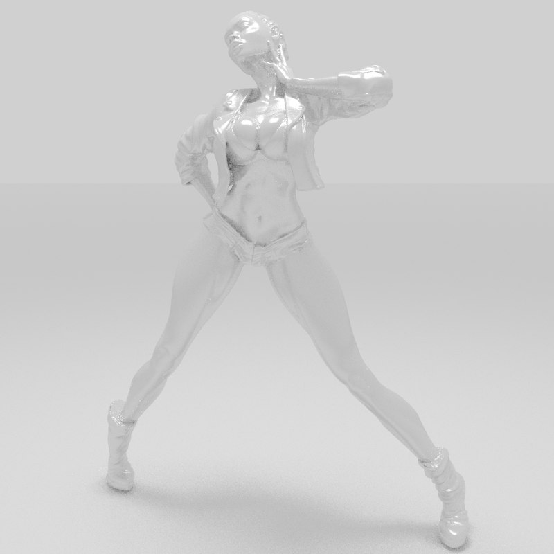3D people character female model