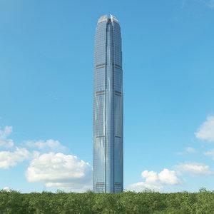 3D international finance centre model