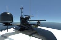 3D mast domes horns radars model