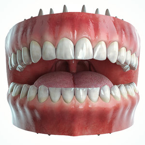 realistic mouth 3D model