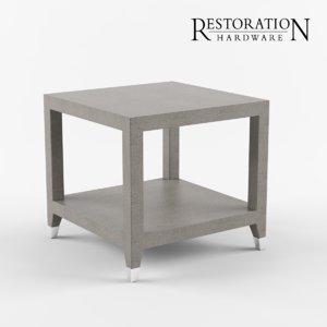 3D graydon shagreen square model