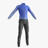 Man Suit Low Poly