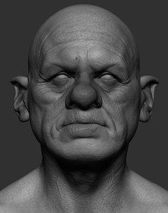 3D old goblin