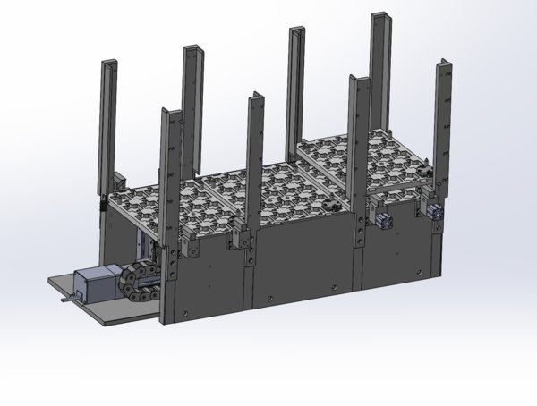 3D tray mechanism automatic stacking model