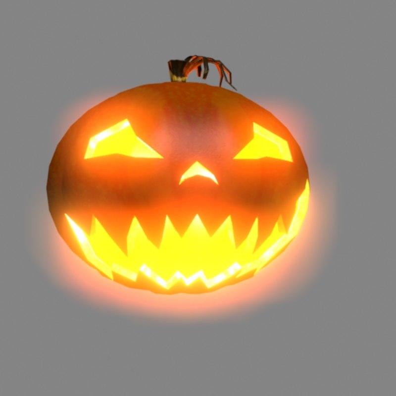 halloween pumpkin model