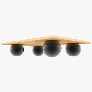 3D minimalist coffee table