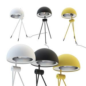 3D model lightyears radon nigra table lamp
