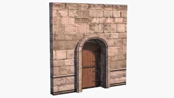 realistic medieval door 3D model
