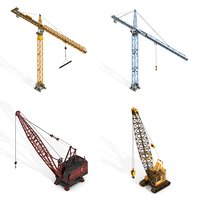 cranes pack 3D model