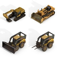 3D construction vehicles pack