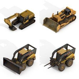 3D construction vehicles pack