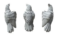 silver jewelry eagle insert 3D model