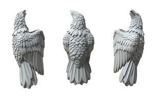 silver jewelry eagle insert 3D model