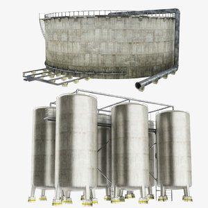 3D oil storage tank