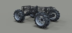 3D chassis truck mud model