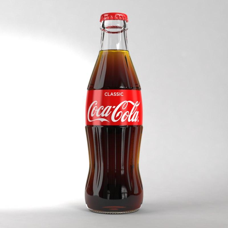 coke glass 250ml 3D model