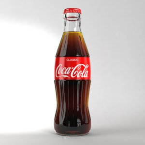 coke glass 250ml 3D model