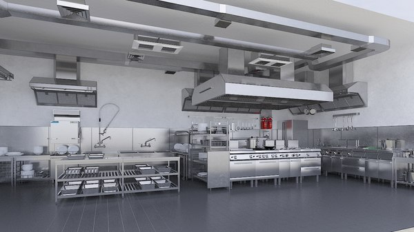 commercial kitchen 3 3D model