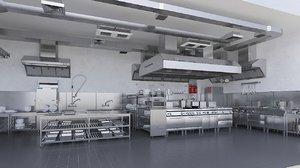commercial kitchen 3 3D model
