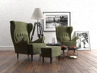 IKEA Strandmon armchair set
