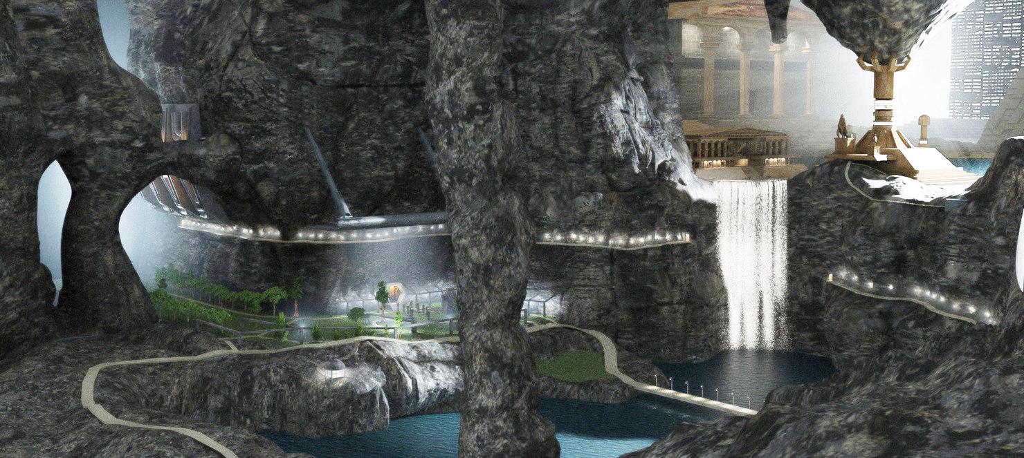 rock waterfall model