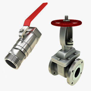 3D valve gate model
