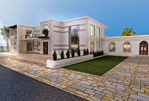 modern islamic villa autocad drawings model