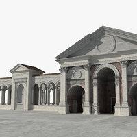 3D ancient roman town