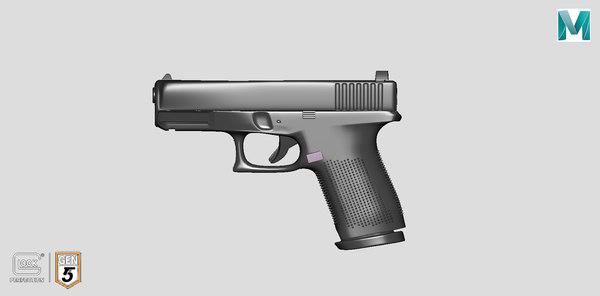 3D glock pistol