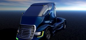 3D futuristic truck