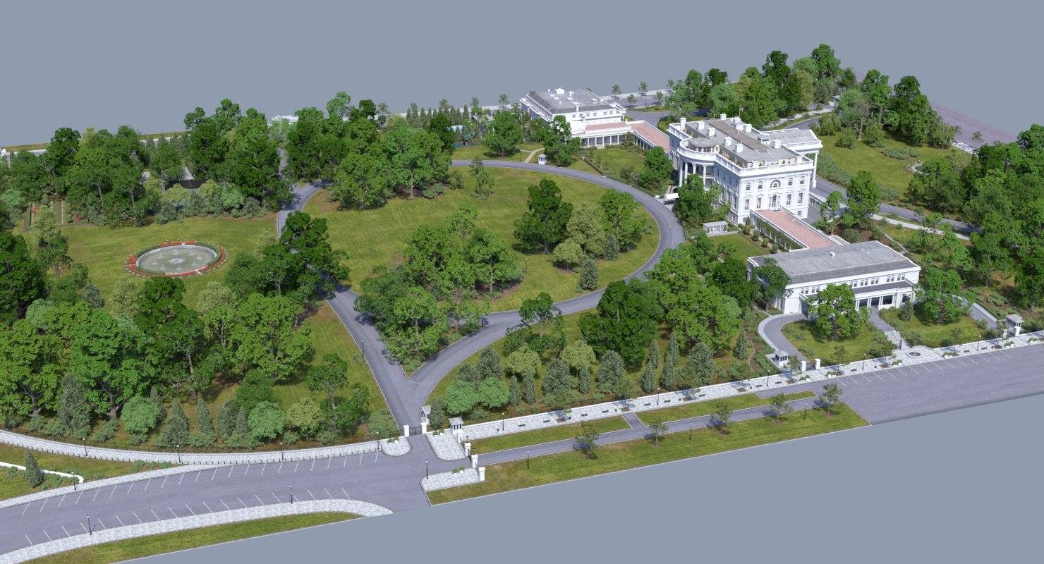 washington dc white house 3D