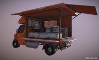 3D thailand truck noodle shop model