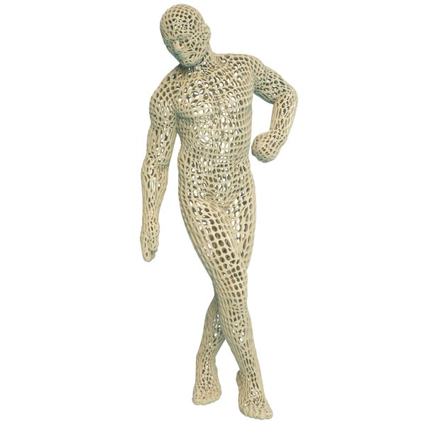 3D abstract man