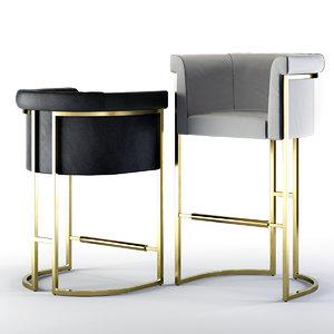 diolite bar stool counter 3D model