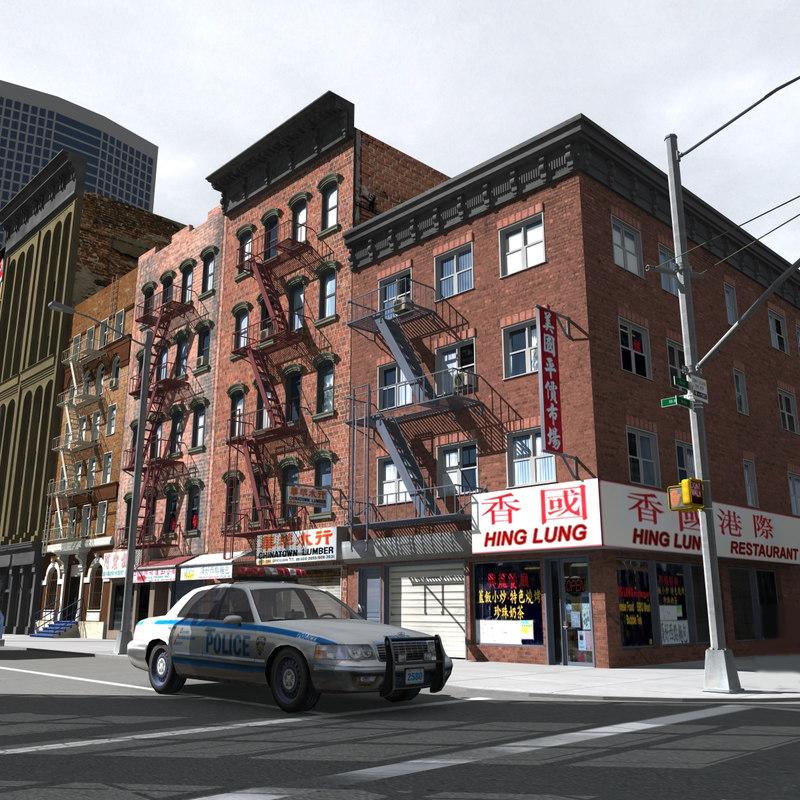 newyork city downtown 3d obj