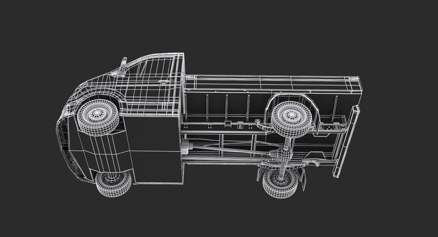 Crafter Pickup Short Cab 3d