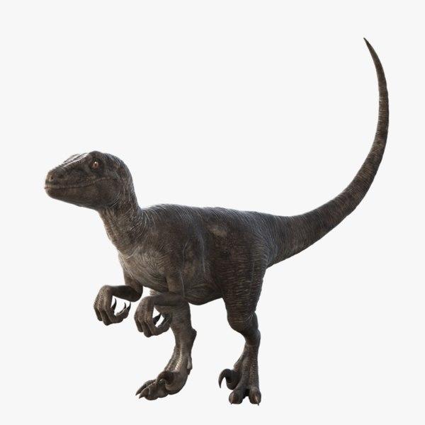 realistic velociraptor rigged raptor 3d max