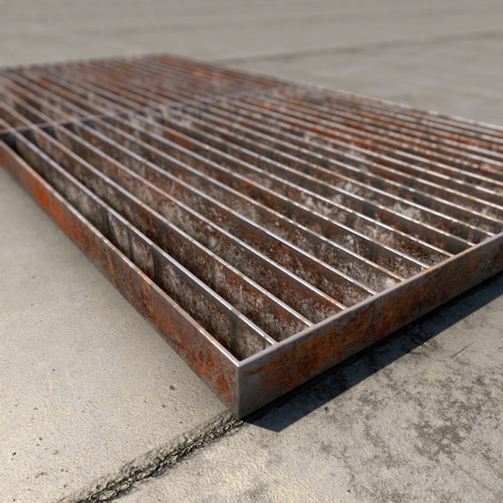 industrial floor rusted 3D model