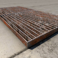 industrial floor rusted 3D model