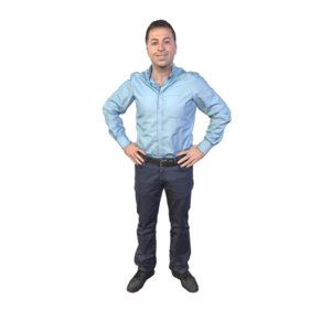 scanned guy standing model