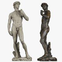statue david michelangelo model