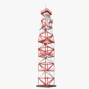 telecommunication tower v-ray 3D model
