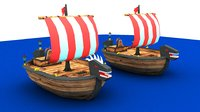 3D v-ray cartoon pirate ship