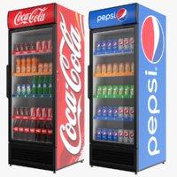fridges coca pepsi 3D model