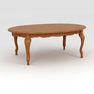 coffee table wooden 3D model