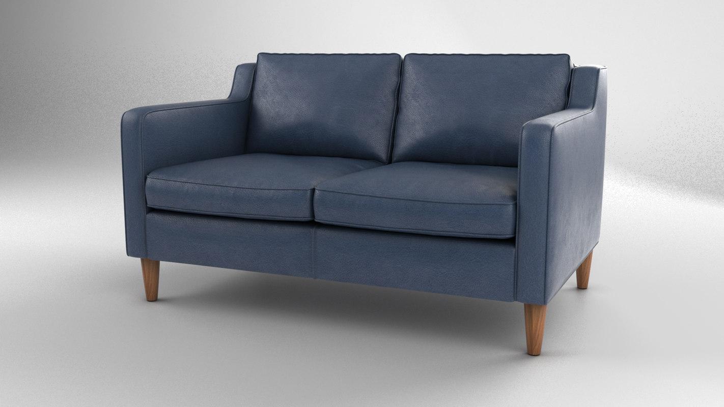 hamilton sofa 2 seats 3D model