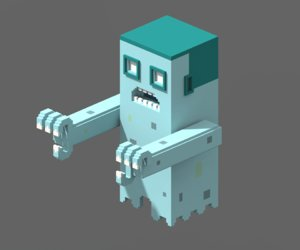 voxel ghost magicavoxel model